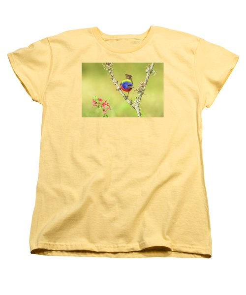 Male Painted Bunting #2 Women's T-Shirt (Standard Cut) by Tom and Pat Cory