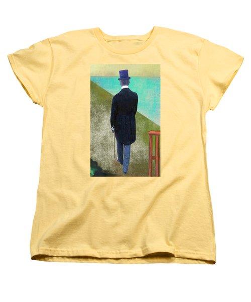 Man In Hat Women's T-Shirt (Standard Cut)