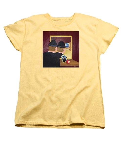 Man In The Mirror Women's T-Shirt (Standard Cut) by Thomas Blood