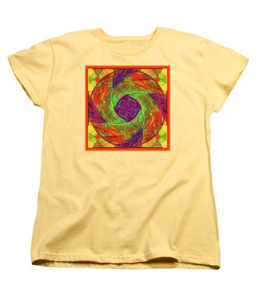 Women's T-Shirt (Standard Cut) featuring the digital art Mandala #55 by Loko Suederdiek