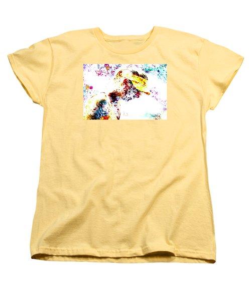 Maria Sharapova Paint Splatter 4p                 Women's T-Shirt (Standard Cut) by Brian Reaves