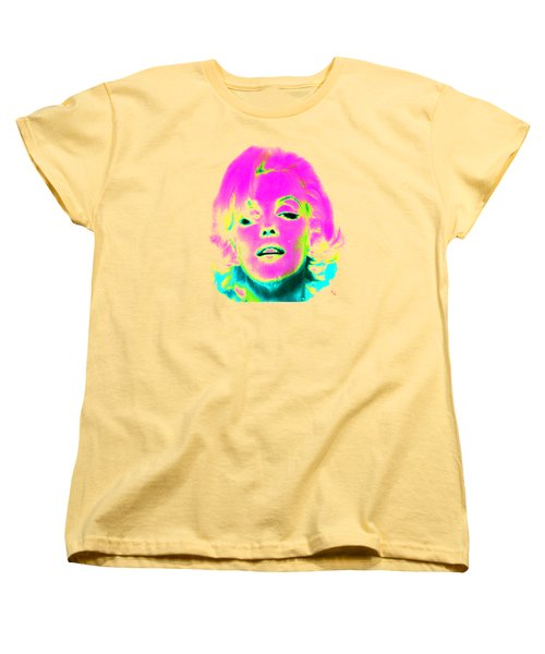 Marilyn Monroe In Psychedelic Color Women's T-Shirt (Standard Cut) by Kim Gauge