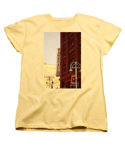 Marshall Bldg Women's T-Shirt (Standard Cut) by David Blank