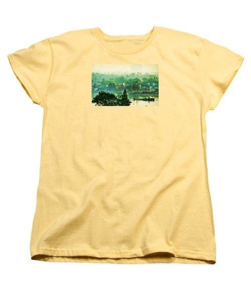 Mekong Morning Women's T-Shirt (Standard Cut) by Cameron Wood