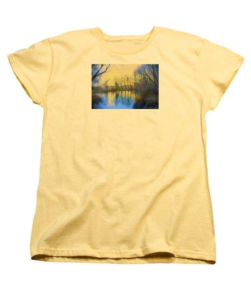 Mellow Yellow Women's T-Shirt (Standard Cut) by John Rivera