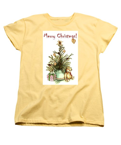 Women's T-Shirt (Standard Cut) featuring the painting Merry Christmas by Heidi Kriel