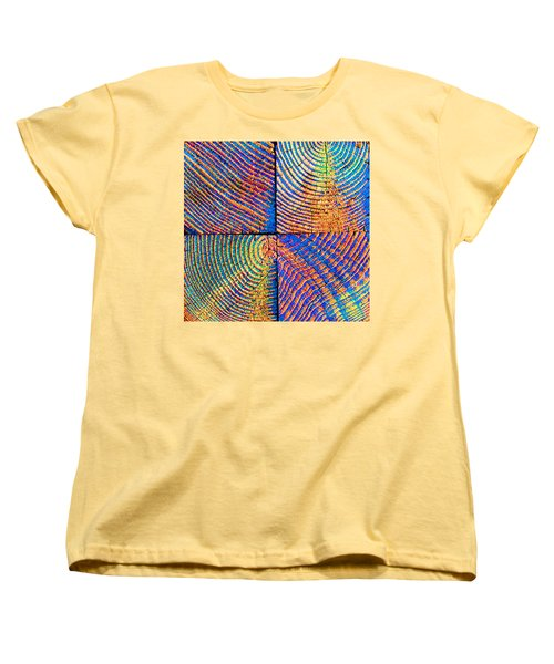 Women's T-Shirt (Standard Cut) featuring the photograph  Rainbow Powerwood by John King