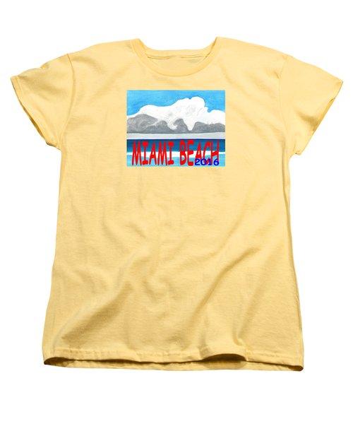 Miami Beach 2016 Women's T-Shirt (Standard Cut) by Dick Sauer