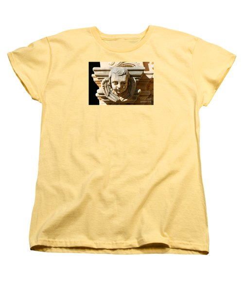 Women's T-Shirt (Standard Cut) featuring the photograph Mission San Jose Angel by Jeanette French