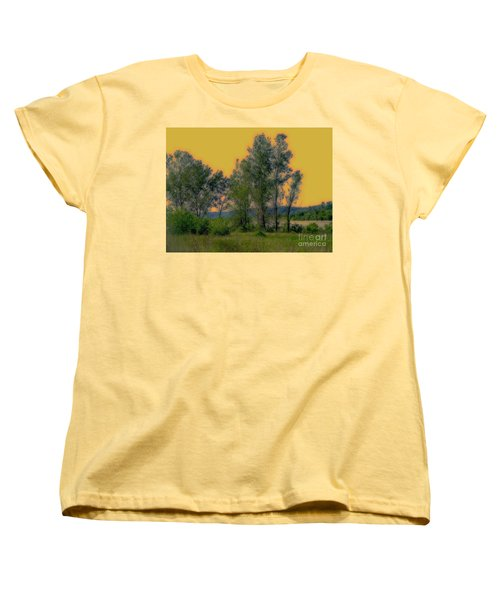 Mississippi Estuary Women's T-Shirt (Standard Cut) by Nancy Kane Chapman
