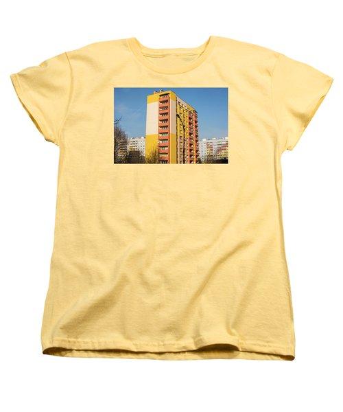 Women's T-Shirt (Standard Cut) featuring the photograph Modern Apartment Buildings by Juli Scalzi