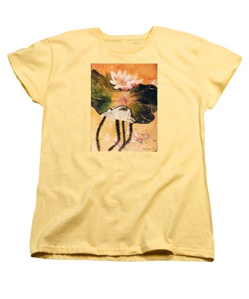 Monet's Water Lily Women's T-Shirt (Standard Cut) by Seth Weaver