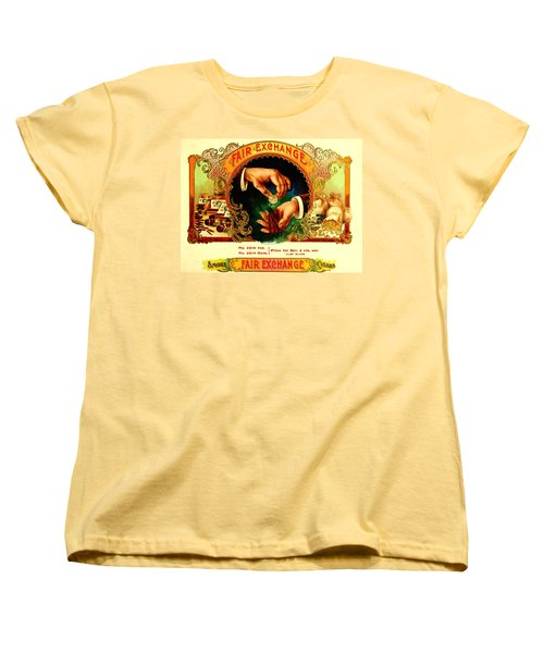 Money Cigar Label Women's T-Shirt (Standard Cut) by Marianne Dow