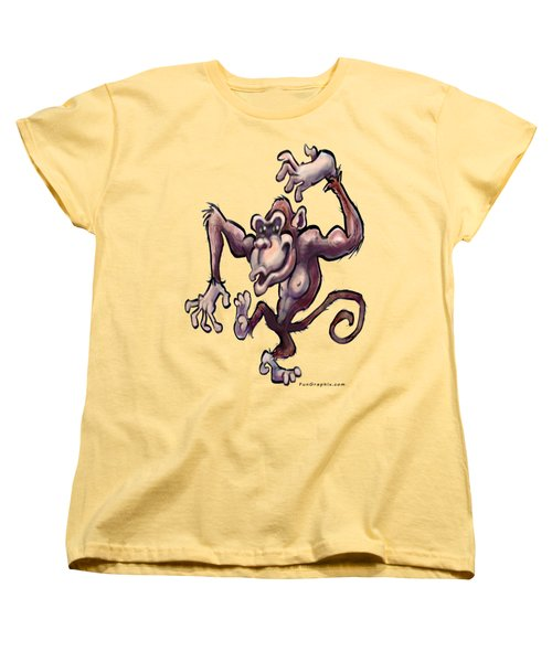 Monkey Women's T-Shirt (Standard Cut)