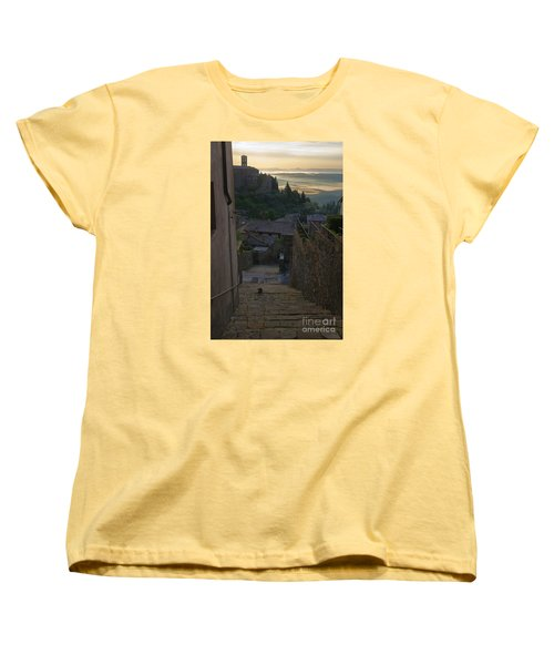 Women's T-Shirt (Standard Cut) featuring the photograph Montalcino City by Yuri Santin