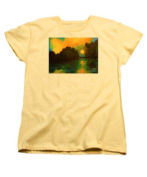 Moon Glow Women's T-Shirt (Standard Cut) by Alison Caltrider