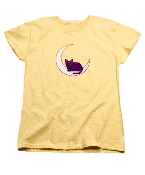 Moon Kitty Women's T-Shirt (Standard Cut) by Destiny Nowicki