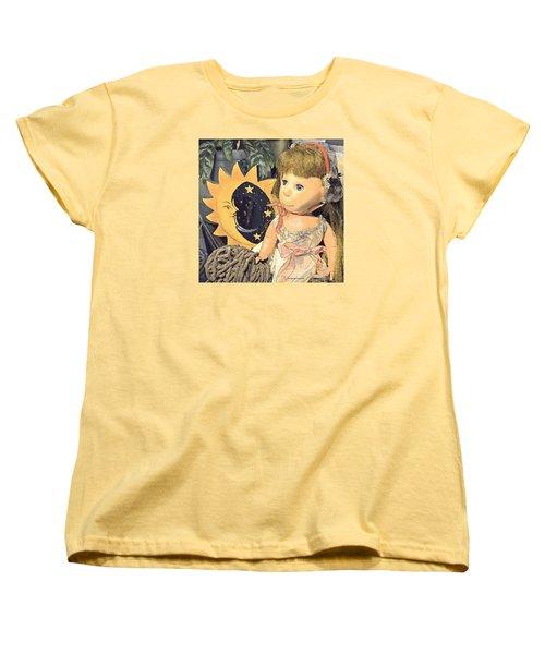 Moon Pearl Women's T-Shirt (Standard Cut) by Tobeimean Peter