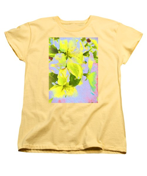 Morning Floral Women's T-Shirt (Standard Cut) by Kathy Bassett