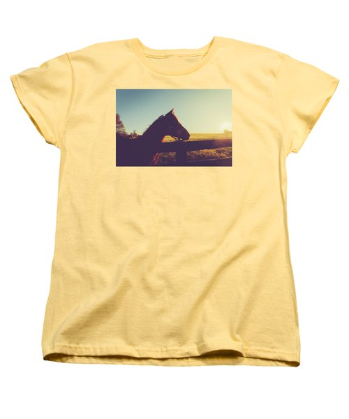 Women's T-Shirt (Standard Cut) featuring the photograph Morning  by Shane Holsclaw