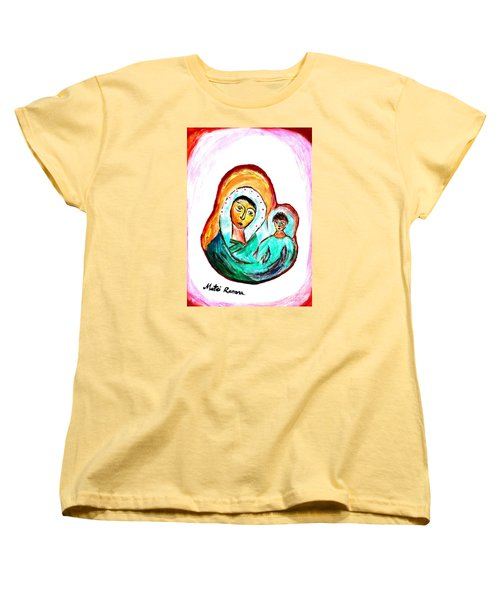 Mother And Child Women's T-Shirt (Standard Cut) by Ramona Matei