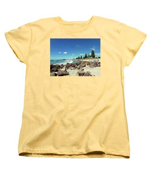 Women's T-Shirt (Standard Cut) featuring the photograph Mount Maunganui Beach 2 - Tauranga New Zealand by Selena Boron