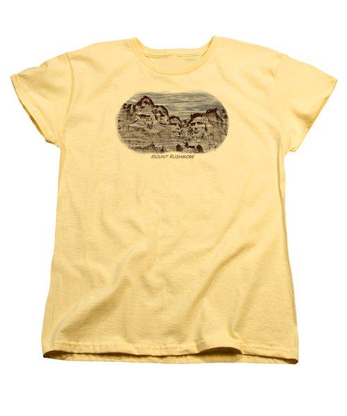 Mount Rushmore Woodburning 2 Women's T-Shirt (Standard Cut)