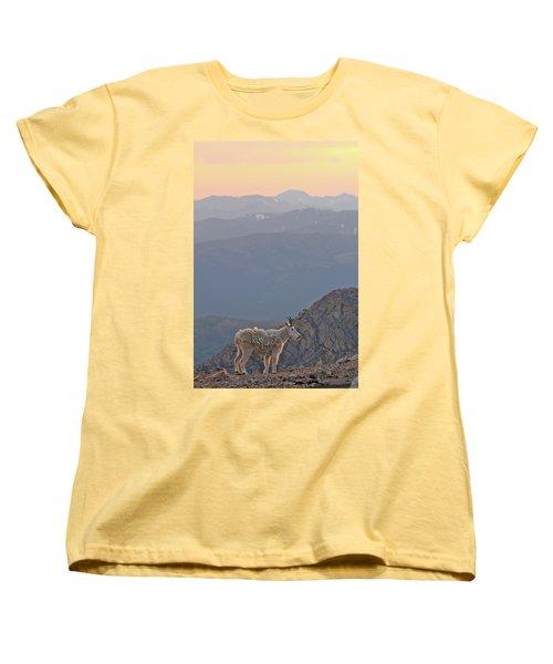 Women's T-Shirt (Standard Cut) featuring the photograph Mountain Goat Sunset by Scott Mahon