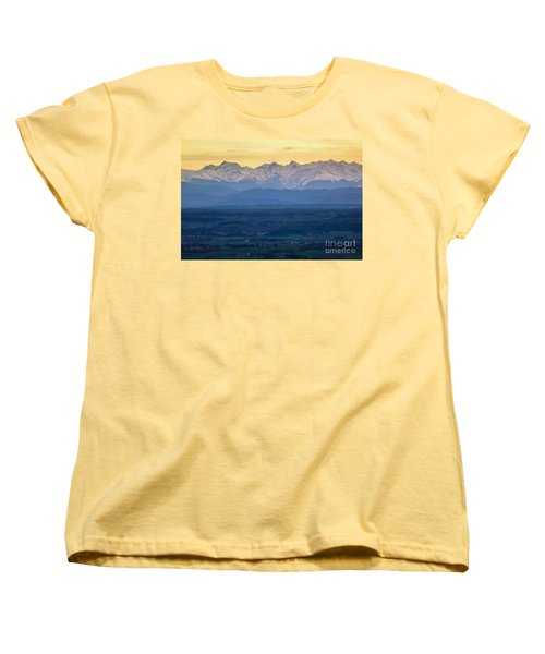 Mountain Scenery 15 Women's T-Shirt (Standard Cut) by Jean Bernard Roussilhe