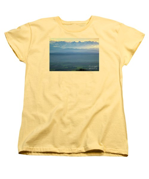 Mountain Scenery 18 Women's T-Shirt (Standard Cut) by Jean Bernard Roussilhe