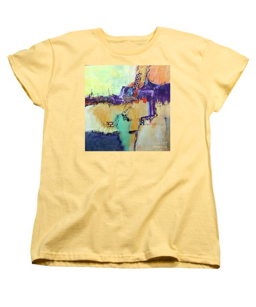 Women's T-Shirt (Standard Cut) featuring the painting Movin' Left by Ron Stephens