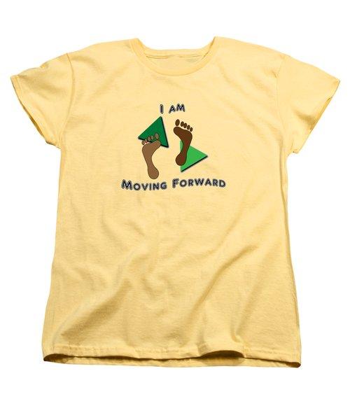 Moving Forward Women's T-Shirt (Standard Cut) by Judi Saunders