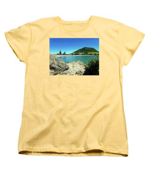 Mt Maunganui Beach 13 - Tauranga New Zealand Women's T-Shirt (Standard Cut) by Selena Boron
