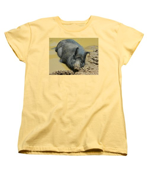 Mud Spa Women's T-Shirt (Standard Cut) by Emmy Marie Vickers