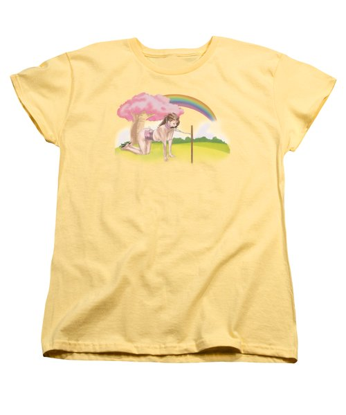 Women's T-Shirt (Standard Cut) featuring the mixed media My Little Pony by TortureLord Art
