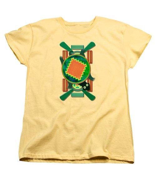 Native American 3d Turtle Motif Women's T-Shirt (Standard Cut) by Sharon and Renee Lozen