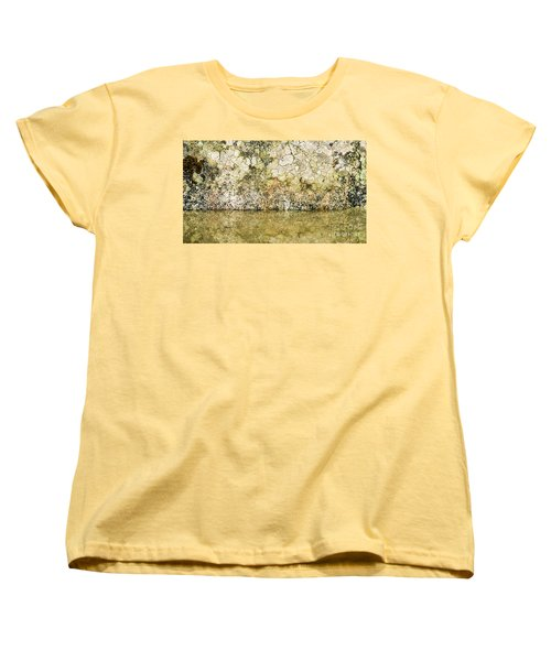 Women's T-Shirt (Standard Cut) featuring the photograph Natural Stone Background by Torbjorn Swenelius