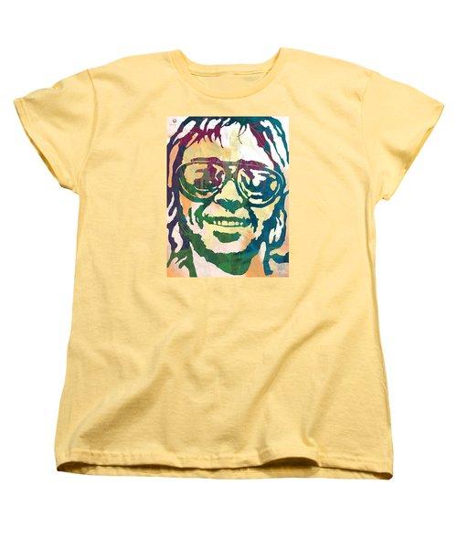 Neil Young Pop Stylised Art Poster Women's T-Shirt (Standard Cut) by Kim Wang