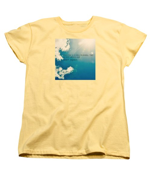 Women's T-Shirt (Standard Cut) featuring the photograph New Beginning by Artists With Autism Inc