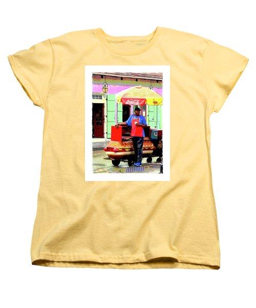 New Orleans Hotdog Vendor Women's T-Shirt (Standard Cut)