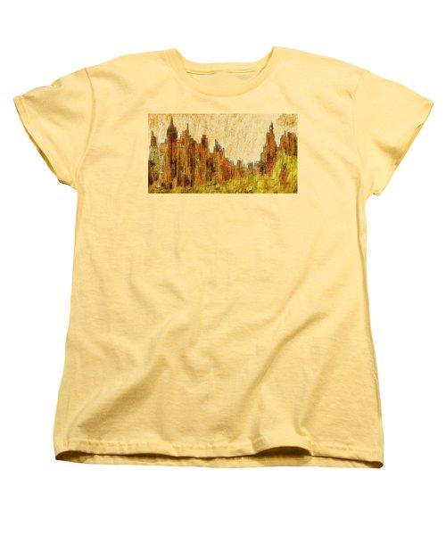 New York City In The Fall Women's T-Shirt (Standard Cut) by Alex Galkin