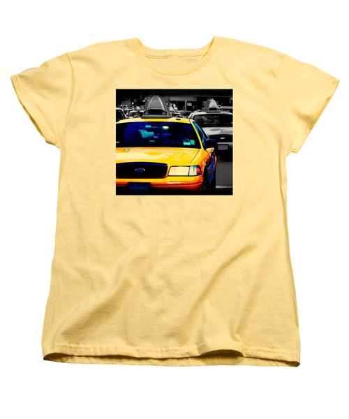 New York Taxi Women's T-Shirt (Standard Cut) by Christopher Woods