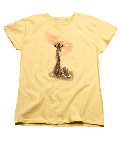 Newborn Giraffe Women's T-Shirt (Standard Cut) by Lucie Bilodeau