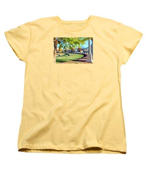 Women's T-Shirt (Standard Cut) featuring the photograph Newnan Park Ampitheatre by Roberta Byram