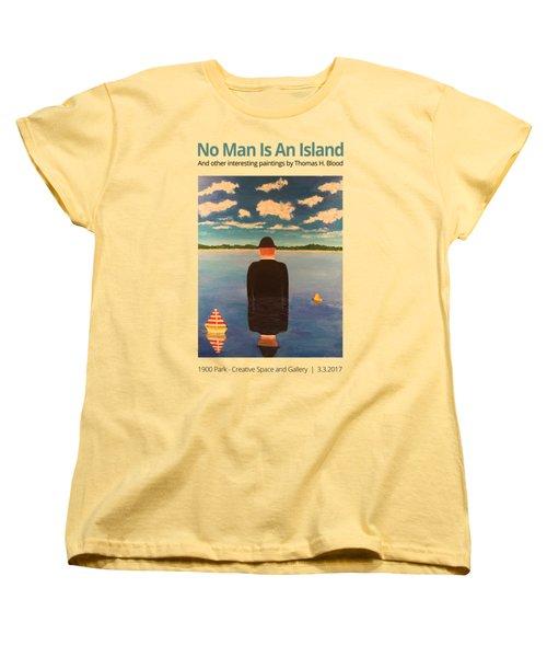 No Man Is An Island T-shirt Women's T-Shirt (Standard Cut) by Thomas Blood
