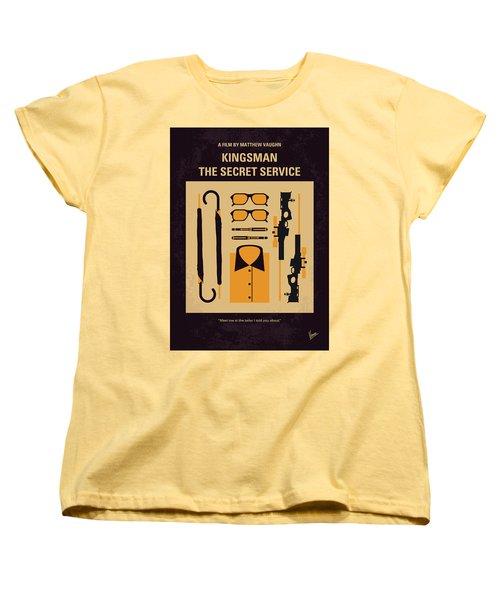 Women's T-Shirt (Standard Cut) featuring the digital art No758 My Kingsman Minimal Movie Poster by Chungkong Art