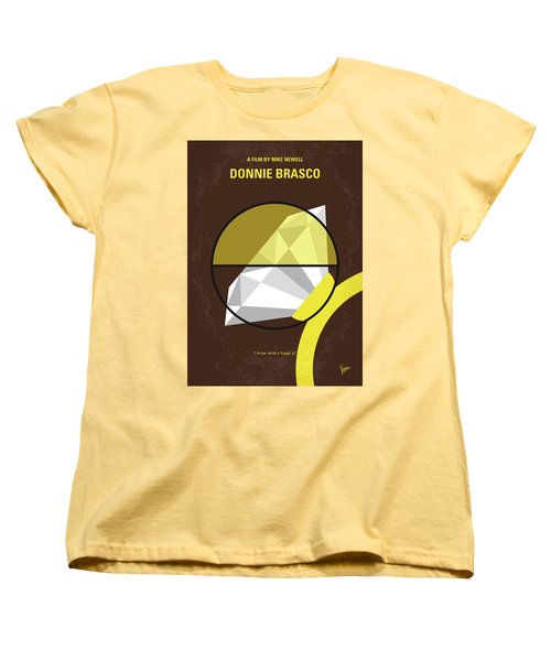No766 My Donnie Brasco Minimal Movie Poster Women's T-Shirt (Standard Cut) by Chungkong Art