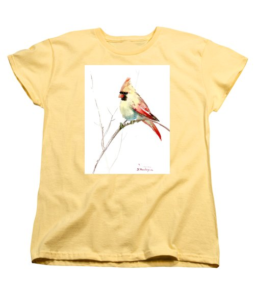 Northern Cardinal,female Women's T-Shirt (Standard Cut) by Suren Nersisyan