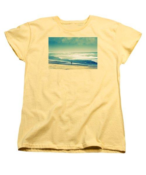 Nostalgic Oceanside Oregon Coast Women's T-Shirt (Standard Cut) by Amyn Nasser