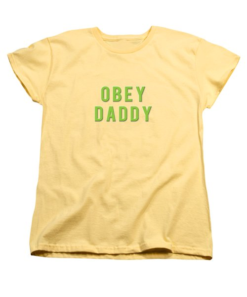 Women's T-Shirt (Standard Cut) featuring the mixed media Obey Daddy by TortureLord Art
